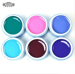 Barato Uv Gel Nail Summer Colors-6 ml Atacado-Perfeito verão Cor Gel 6 cores UV Gel DIY Nail Art Pintura Venda Hot Gel UV Lamp