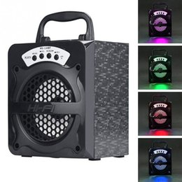 radio pc card 2019 - Speaker MS-130BT Colorful LED Multimedia Wireless Bluetooth Portable with USB MP3 TF AUX FM Radio Outdoor Bass Music for
