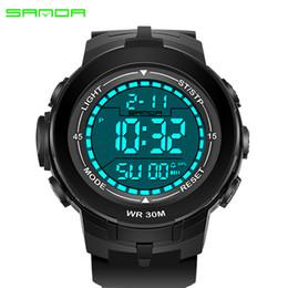 Digital Round NZ - 2017 Newest SANDA Watch Men fashion Style Waterproof Sports Watches S Shock Men's Analog Quartz Digital Outdoor Round Watches