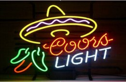 Coors Light Lighted Signs Canada - Coors Light Pepper Neon Sign Cayenne Cushaw Commercial Handcraft Custom Real Glass Tube Restaurant Advertising Display Neon Signs 20''x16''
