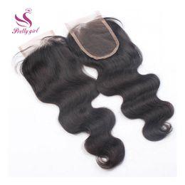 $enCountryForm.capitalKeyWord Canada - Top Lace Closure Malaysian Body Wave Wavy Virgin Human Hair Full Lace Closures Cheap Natural Color Bleached Knots Closures 4x4 Size 8-22inch