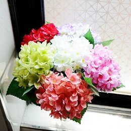 Hydrangea stem artificial flowers wholesale online shopping upscale hydrangea artificial silk flower stems 5 inch dia flower head 6 colors available for home wedding party decorations mightylinksfo