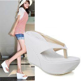 a664c3d8a Beach Wedding Shoes Sandals Canada - Small big size women shoes flip flop  wedge sandals girls