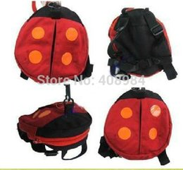 Barato Alças De Segurança Para Crianças-Bebê Walker Kid Keeper segurança do bebê Harness Bebê Criança arneses Rédeas Backpack Straps Bat Ladybug Bag Anti-perdida Asas Walking