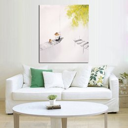 $enCountryForm.capitalKeyWord UK - Handpainted Wall Pictures Abstract Ferrymen Simple Art Oil Painting Canvas Scenery Wall Stickers Home Decorative Oil Paintings