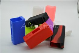 silicone case for cloupor Canada - New Silicone Case Silicon Cases Bag Colorful Rubber Sleeve Protective Cover Skin For Cloupor Min Plus 50 Watt TC 50W Box Mods DHL