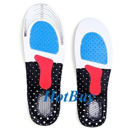 Arch Pad Running Shoe Canada - Gel Insole Orthotic Sport Insert Shoe Pad Arch Support Heel Cushion Running New 2Pcs Pair #3721