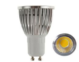 Ceiling Spotlight Bulbs UK - MOQ50 Bright COB LED Spotlight Bulbs 5W E27 MR16 GU10 GU5.3 E14 Ceiling Spot Lamp 12V 85-265V Warm white Cool white CE ROSH Via Express Ship