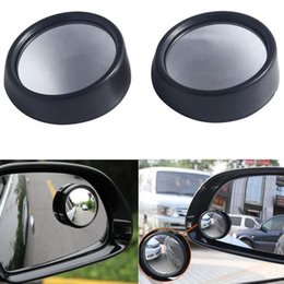 Discount vehicle blind spot mirrors - Wholesale-2PCS lot Round Car Vehicle Convex Mirror Blind Spot Side Rearview Wide Angle Auxiliary Safe Driving