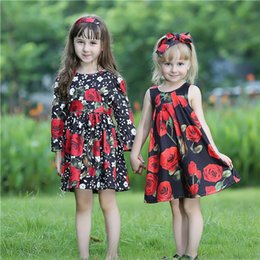 BaBy red roses dresses online shopping - Pettigirl Hot Sale Fall Girls Flower Dress With Rose Flowers And Sash Baby Girls Dresses Kids Designer Clothes Girls GD80810 F