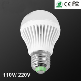 Prices Energy Saving Bulbs Canada - Free Shipping Super Bright Wholesale Price Cheap 3W 5W 7W 9W 12W LED Bulbs 110V 220V LED Lights E27 B22 Energy-Saving Spotlight Lamp Globe