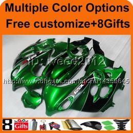 Großhandel 23colors + 8Gifts GREEN GSX600F 1998 1999 2000 GSX750F 01 03 04 05 06 Motorradverkleidung für Suzuki Katana ABS-Kunststoffverkleidung
