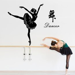 $enCountryForm.capitalKeyWord NZ - Ballet girl wall stickers living room bedroom Dance interior home decoration art decals film self adhesive furniture