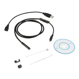 waterproof snake camera UK - Waterproof 720P HD 7mm lens Inspection Pipe 1m Endoscope Mini USB Camera Snake Tube with 6 LEDs Borescope For Android Phone PC 2016
