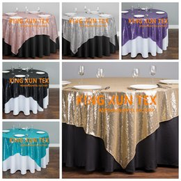 $enCountryForm.capitalKeyWord NZ - Wholesale Price Sequin Table Overlay \ Cheap Sequin Wedding Table Cloth For Party And Event Decoration Free Shipping