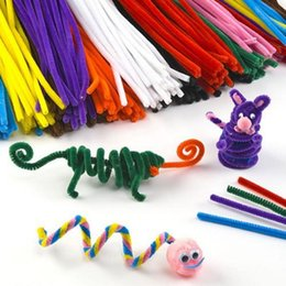stick art children NZ - 100Pcs set Fun Baby Kids Colorful Educational Toys for Children Plush Stick Shilly-Stick DIY Animal Soft Art Craft Materials Toy