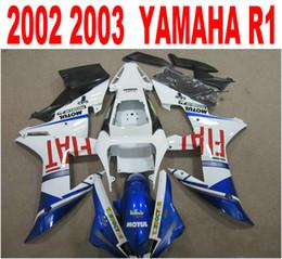 Motorcycle fairing kit yaMaha r1 online shopping - Injection molding popular fairing kit for YAMAHA fairings YZF R1 blue white black motorcycle parts YZF R1 set HS95