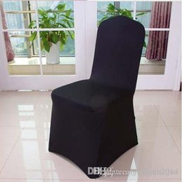Party Chairs For Sale Canada - Hot sale,ivory Black White Spandex Stretch Chair Cover Lycra For Wedding Banquet Party Hotel Decorations