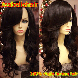 Black Half Wig Hairstyles Canada - 150% Body Wave 100% Human Hair Wigs For African Americans Baby Hair Lace Front Wig With Bangs   Brazilian Full Lace Wigs Black Women