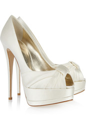 $enCountryForm.capitalKeyWord UK - 2016 Wedding Shoes For Bridal Accessories Shoes Cheap Modest Ivory Fashion High Thin Heels New Arrive Custom Made Size Peep Toe Ruffles