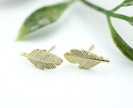 $enCountryForm.capitalKeyWord Canada - 30Pair- S006 Fashion brief Fallen tree leaves stud earring silver gold cute Maple foliage plant leaf stud earrings for women