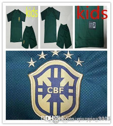 7d5852cfb92 2015 james rodríguez soccer jersey; 17 18 kids world cup soccer jersey kits  3rd green brazil neymar jr home yellow pele