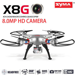 $enCountryForm.capitalKeyWord Canada - Original Syma X8G 2.4G 6 Axis Gyro 4CH RC Quadcopter Headless mode Professional Drones with 5MP Camera helicopter Helicopter