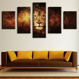 $enCountryForm.capitalKeyWord Canada - 5 Piece lion Modern Home Wall Decor Canvas Picture Art HD Print Wall Painting Set of 5 Each Canvas Arts Unframed painting canvas