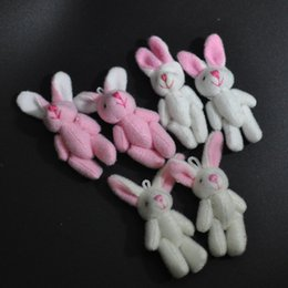 $enCountryForm.capitalKeyWord Canada - Bulk 4.5CM Plush Mini Bunny Cute Joint Rabbit stuffed animals Craft Stuffed Dolls Plush Pendant jewellery Bouquet Phone Bag Soft toys