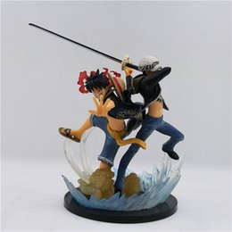 Anime Law Figures Canada - Suzannetoyland One Piece Action Figures Law Luffy 5th Anniversary Attack Japanese Anime Figure Pvc Cartoon One Piece Anime Toys