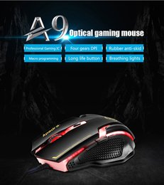 56e92d6d57e High quality Wired USB Death Adder Mouse 3200DPI A9 Competitive Games PC  mice,Computer mouse laptop desktop tablet mouse