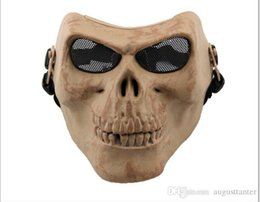 M02 CS equipment field full face skeleton party horror cartoon mask Halloween Masquerade mask male Venice Italy flathead lace Mask 2015