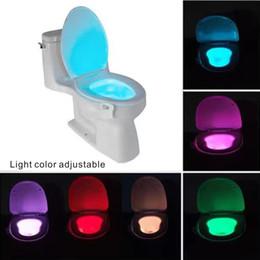 LEDs nocturnes pour baies avec capteur de mouvement de 8 couleurs Éclairage réglable Emballage Boîte de couleur.