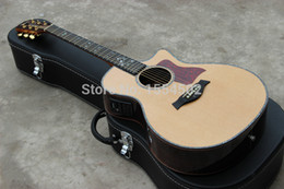 Sell guitar china online shopping - Hot selling solid spruce top inch cut away acoustic electric guitar style China made guitars