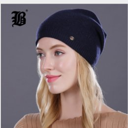 cashmere beanies for women Australia - Winter Hat For Women Girl S Casual Skullies Beanies Wool Hat Keep Warm Knitted Beanies Cap With Lining Female Good Quality Casual Caps