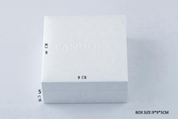 Wholesale White Pandora style Box Flat Sponge or Pillow Inside Charms Bead Necklace Earring Ring Bracelet Jewelry gift box paper bags Package Display
