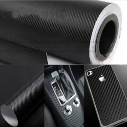 Wholesale 3D Carbon Fiber Vinyl Film Black cm cm Car Styling Waterproof Car Sticker wrap DIY Car Tuning Part Sticker