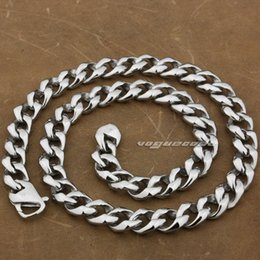"Necklaces Rockers Canada - 18"" ~ 36"" 316L Stainless Steel Mens Biker Rocker Punk Necklace 5A012N"