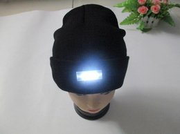 Wool Hunting Hats NZ - DHL Free Black Beanie LED Glowing Knitted Caps with 5 Led Flash Light Novelty Led Hat for Hunting Camping Grilling Jogging Walking Wholesale