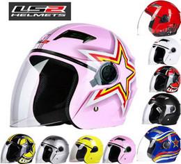 Ls2 Motorcycle Half Helmet NZ - 2016 New LS2 Half face motorcycle helmet ABS electric bicycle Motorbike helmets warm winter safety helmets men women OF501