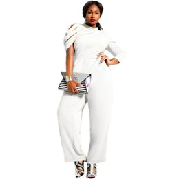 Discount White Jumpsuits For Plus Size Women | 2017 White ...