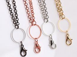 Großhandel Großhandelsmetall 10pcs / lot lange sich hin- und herbewegende Medaillon-Kette / Halskette gepasst für magnetischen Glascharme-Medaillon-Anhänger