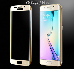 Discount galaxy s6 edge plus tempered full - Galaxy S6 edge Full Screen Protector Tempered Glass 0.2mm S6 edge Plus Cover Whole Screen Curve Screen Protector With Re