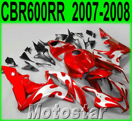 $enCountryForm.capitalKeyWord Canada - Injection molding popular bodykits for HONDA CBR600RR 07 08 fairings CBR 600RR F5 2007 2008 red black silver plastic fairing kit KQ90