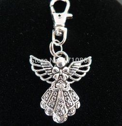 $enCountryForm.capitalKeyWord Canada - 2017 New Hot 50pcs Fashion Vintage Silver Alloy Angel Charm Keychain Gifts Key Ring Fit DIY Key Chains Accessories Jewelry Holiday Gift D391