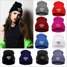 Fallen Hats Australia - womens fall fashion winter diamond beanies vogue knitted Ski beanie skullies hats for women girl,bonnet gorras mujer,toucas free DHL