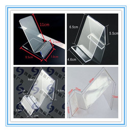 $enCountryForm.capitalKeyWord Canada - Acrylic cell phone MP3 cigarette DV GPS display shelf Mounts & Holders mobile phone display Stands at good price free shippiing 20pcs lot