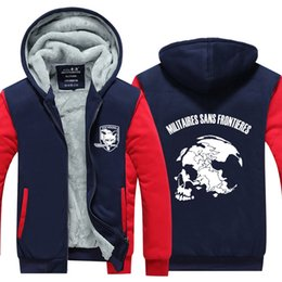 Metal Gear Solid felpa con cappuccio Anime Diamond Dogs Addensare Warm Men Felpe Winter Giacche e cappotto MGS 5 ipper Men cardigan Pullover Top n
