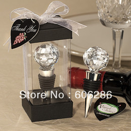 $enCountryForm.capitalKeyWord Canada - Wedding Party Favors vineyard collection crystal ball  Heart wine bottle stopper wedding gifts party Souvenir birthday 100pcs wholesale