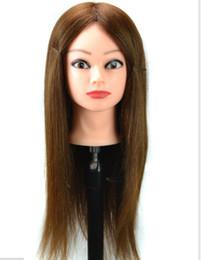 practice hair head 2019 - 100% human hair Practice Hairdressing Training Head Mannequin training head human hair training head discount practice h